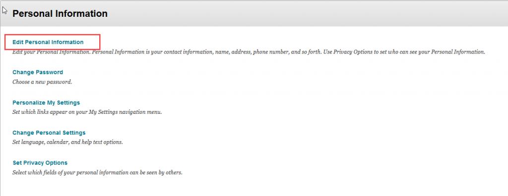 alertsclick edit personal information