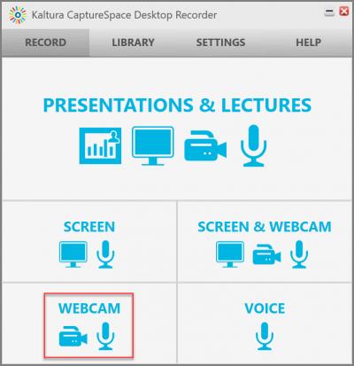Click Webcam.