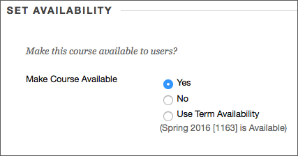 Select Yes and then Submit to save
