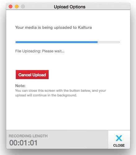 Upload options