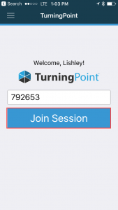 Enter Session ID and click Join Session