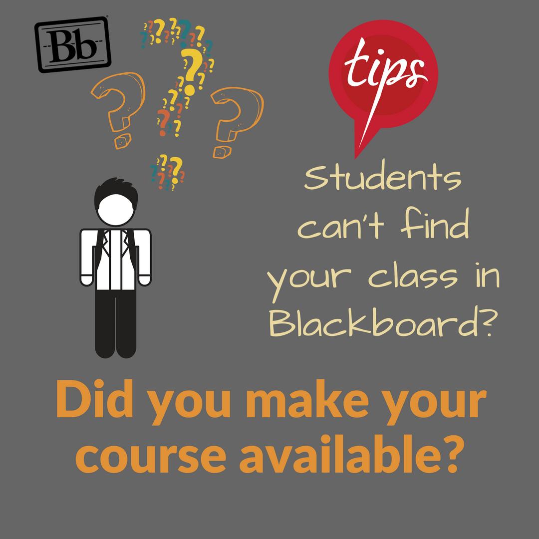 Blackboard: Make Your Course Available