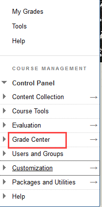 Click grade center bulk cloumn