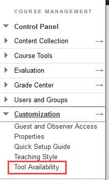 click Tool availability