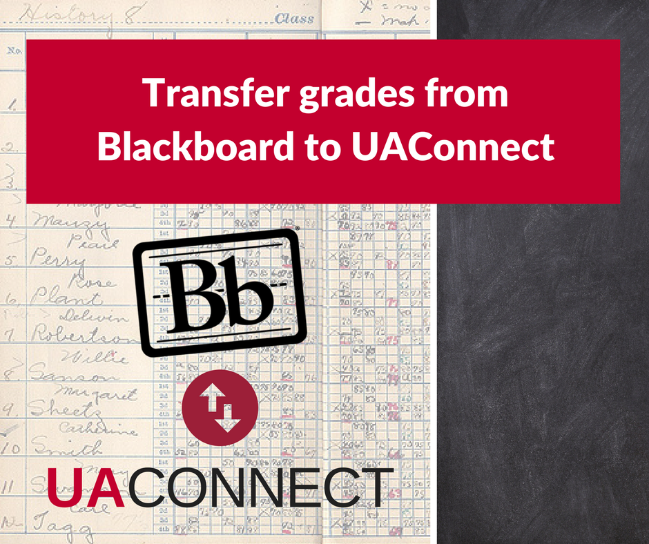 Transfer grades from Blackboard to UAConnect