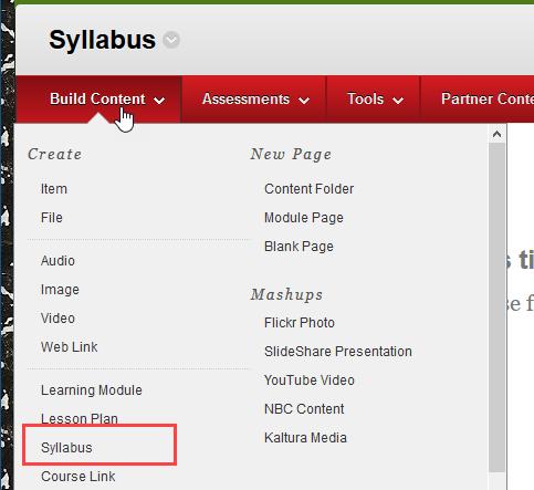select syllabus