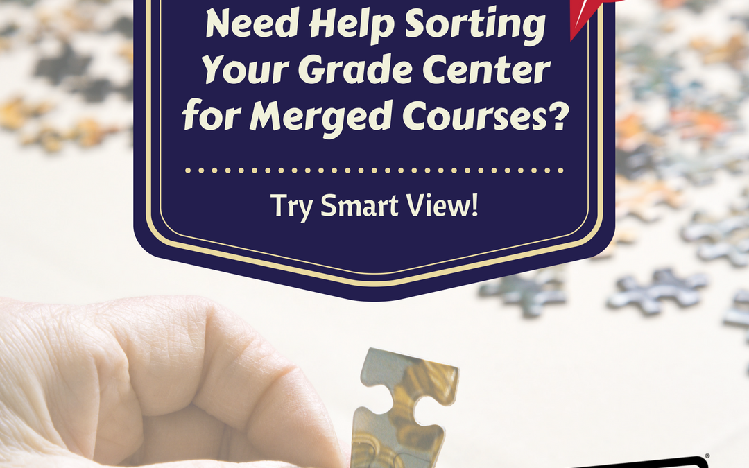 Create a Smart View to Divide Merged Courses into Individual Grade Centers