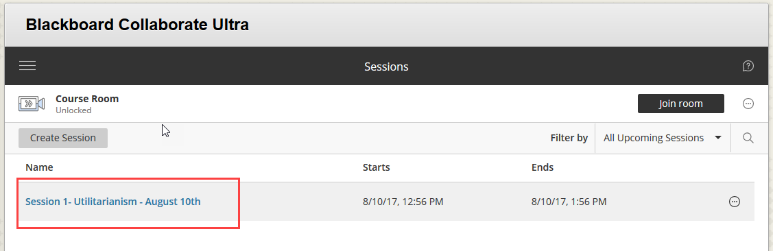 ClickYou session should appear in the list
