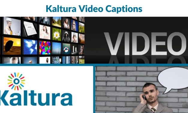 Kaltura: Video Captions