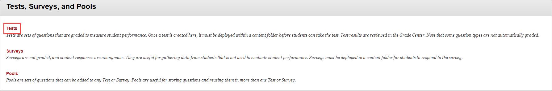 click tests