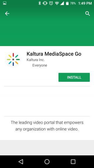 Download or Install the Kaltura Mediaspace go app