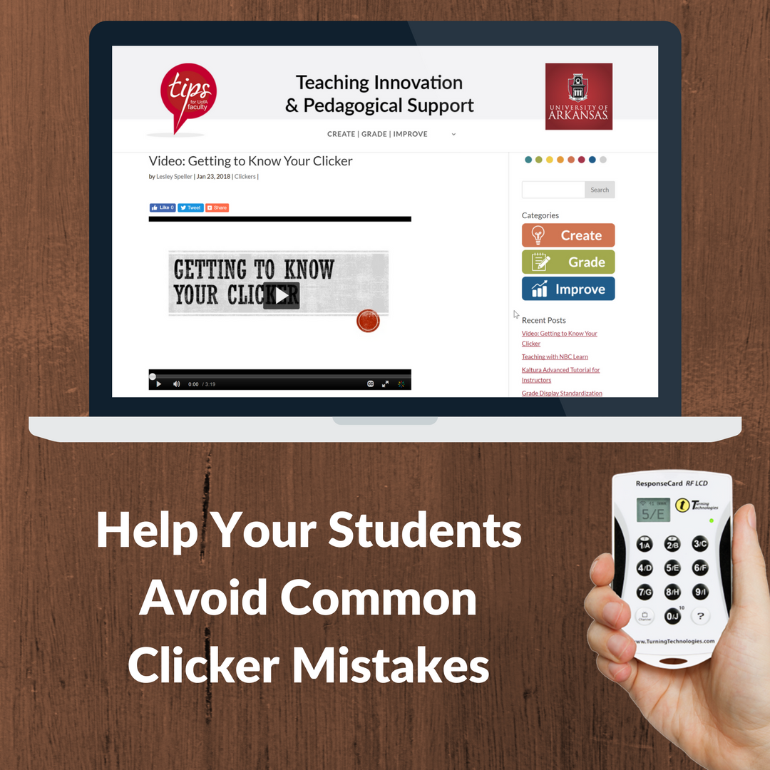 Clickers: Getting to Know Your Clicker Video