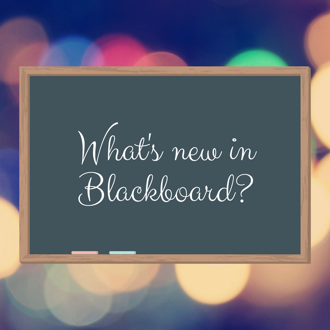 Blackboard Upgrade Features