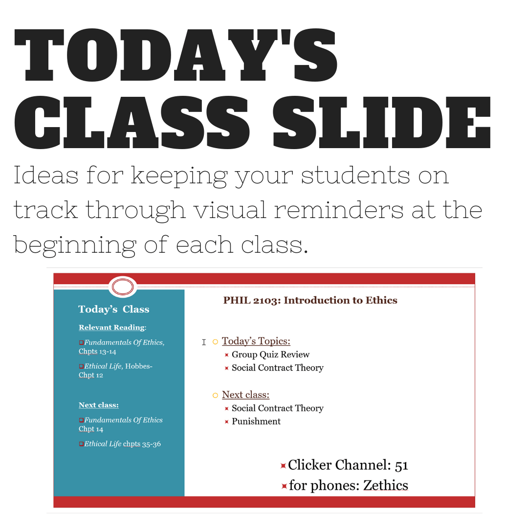 Faculty Spotlight: Today's Class Slide