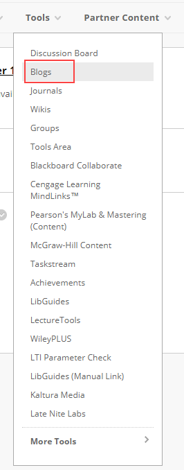 Creating a Blog in Blackboard | Teaching Innovation and