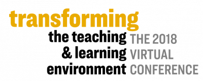 Transforming the teaching and learning environment 2018 virtual conference logo