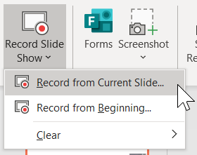 Choose between Record from Current and Record from Beginning