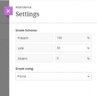 set attendance settings