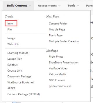 click item