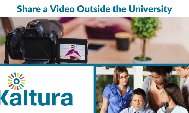 Kaltura: Share a Video with Individuals Outside of the University