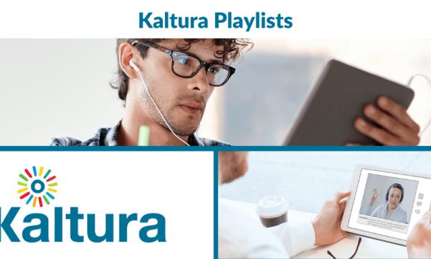 Kaltura: Playlists