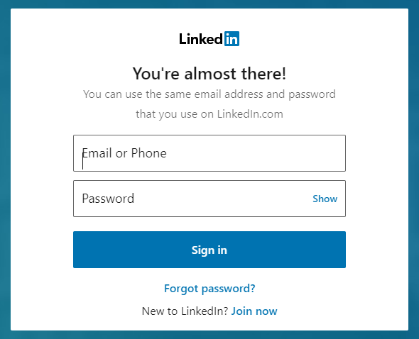 Enter your user name and password and click submit