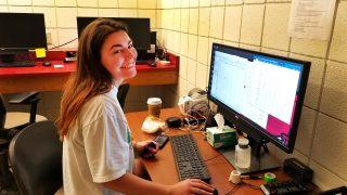 reagan at computer