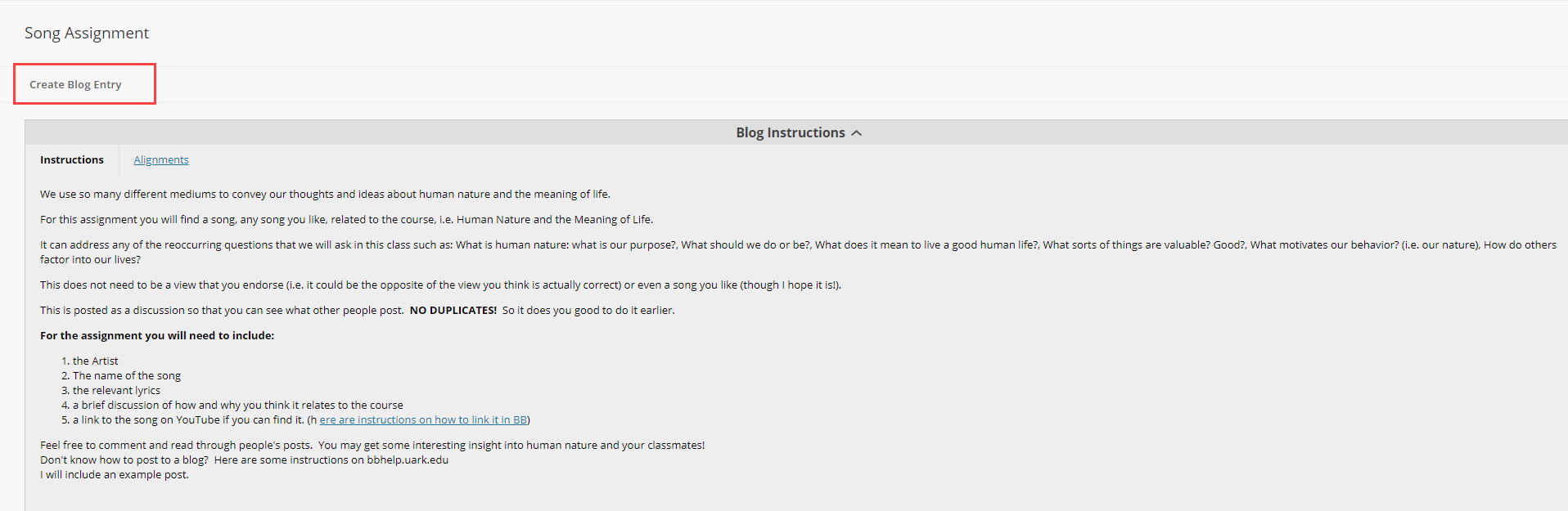 Post and Comment on a Blog | Blackboard Help for Students