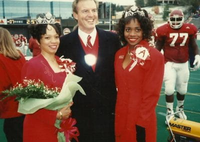 Monica Jones, Governor Jim Guy Tucker, and 1992 Homecoming Queen Kimberly Polite
