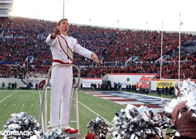 Conducting in the stands at the 2015 Liberty Bowl