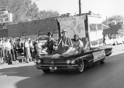 International Club in the homecoming parade in the 1960s