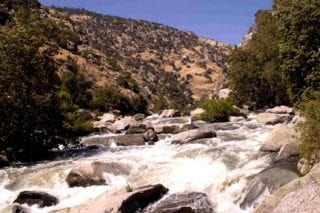 Snowpack run-off and blue oak woodlands at the Kern River in the southern Sierra Nevada (KR2).