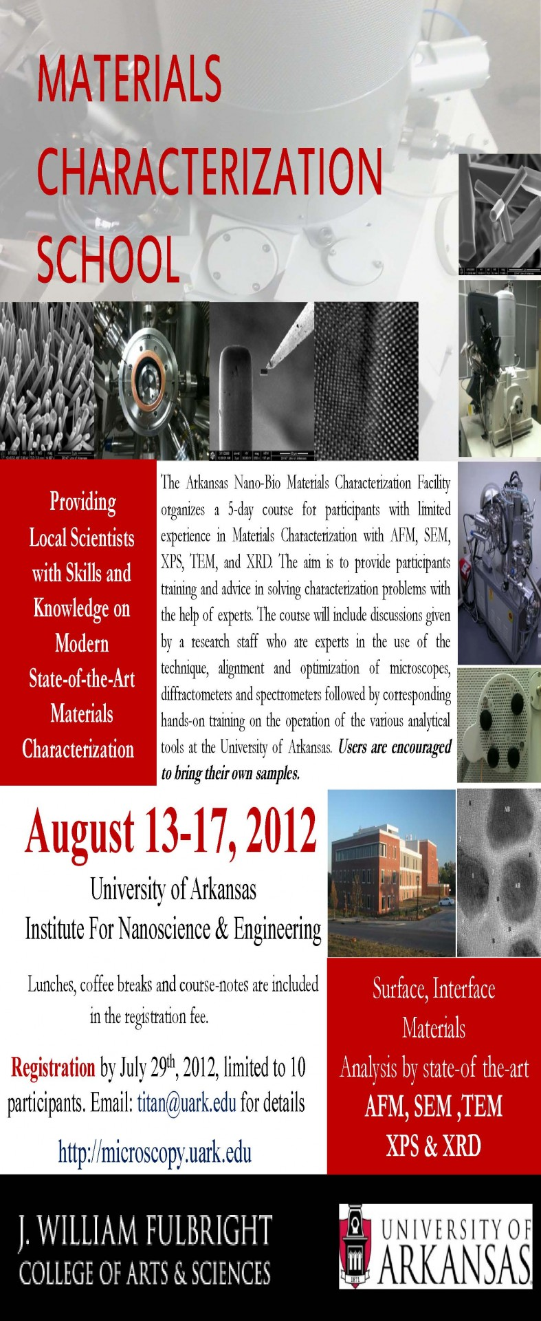 Materials Characterization Poster
