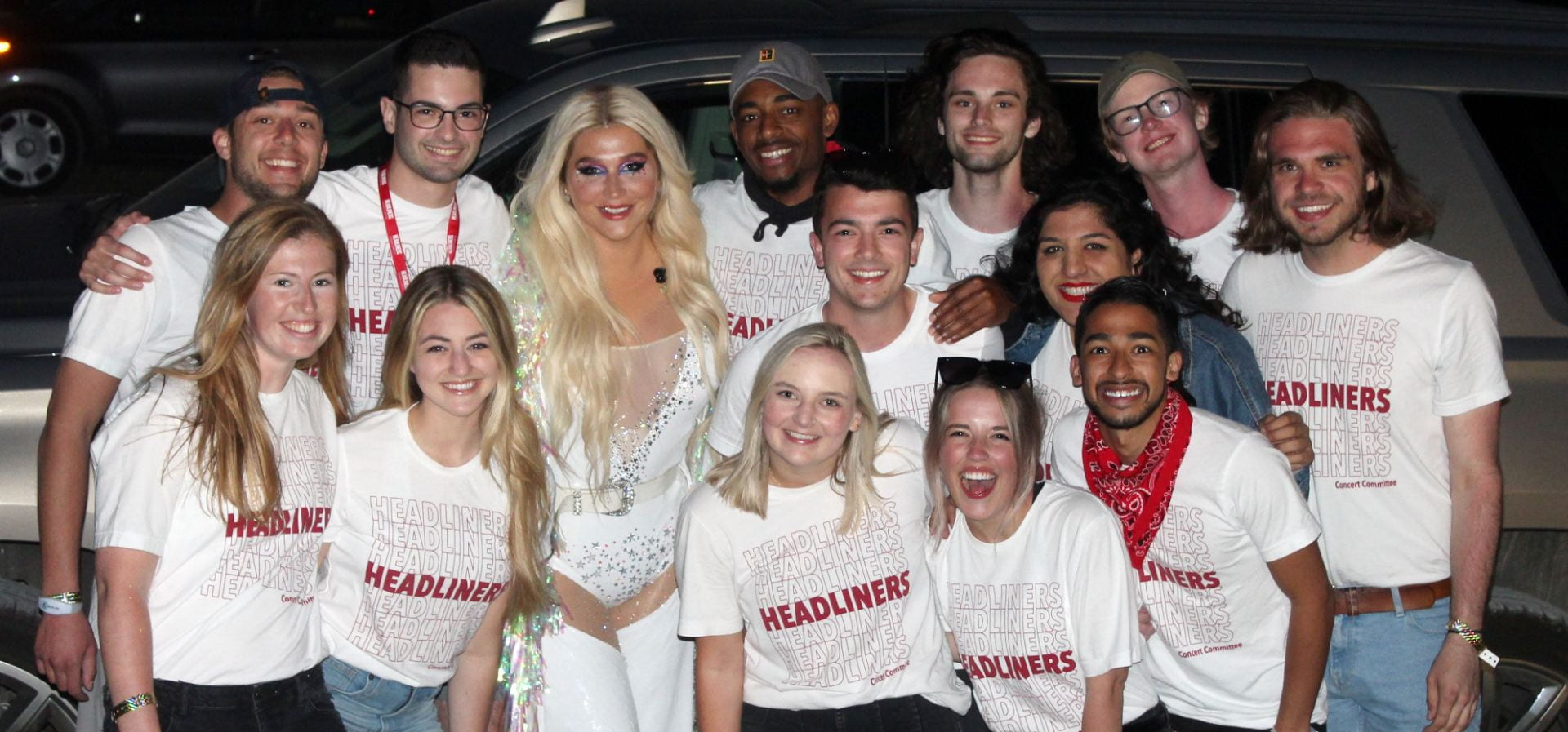 Headliner Concerts Committee Poses with Kesha