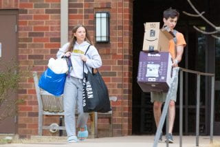 students moving out