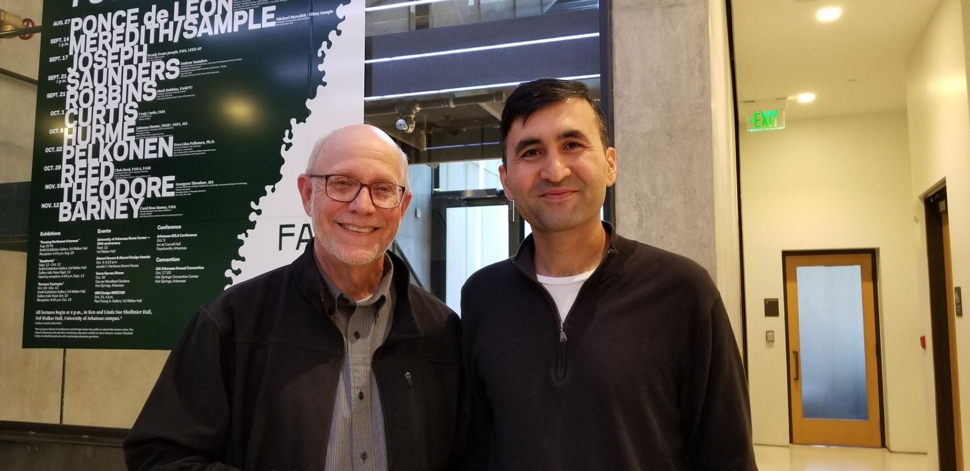 UA journalism faculty members Dale Carpenter and Hayot Tuychiev were among the attendees. 10/18/18