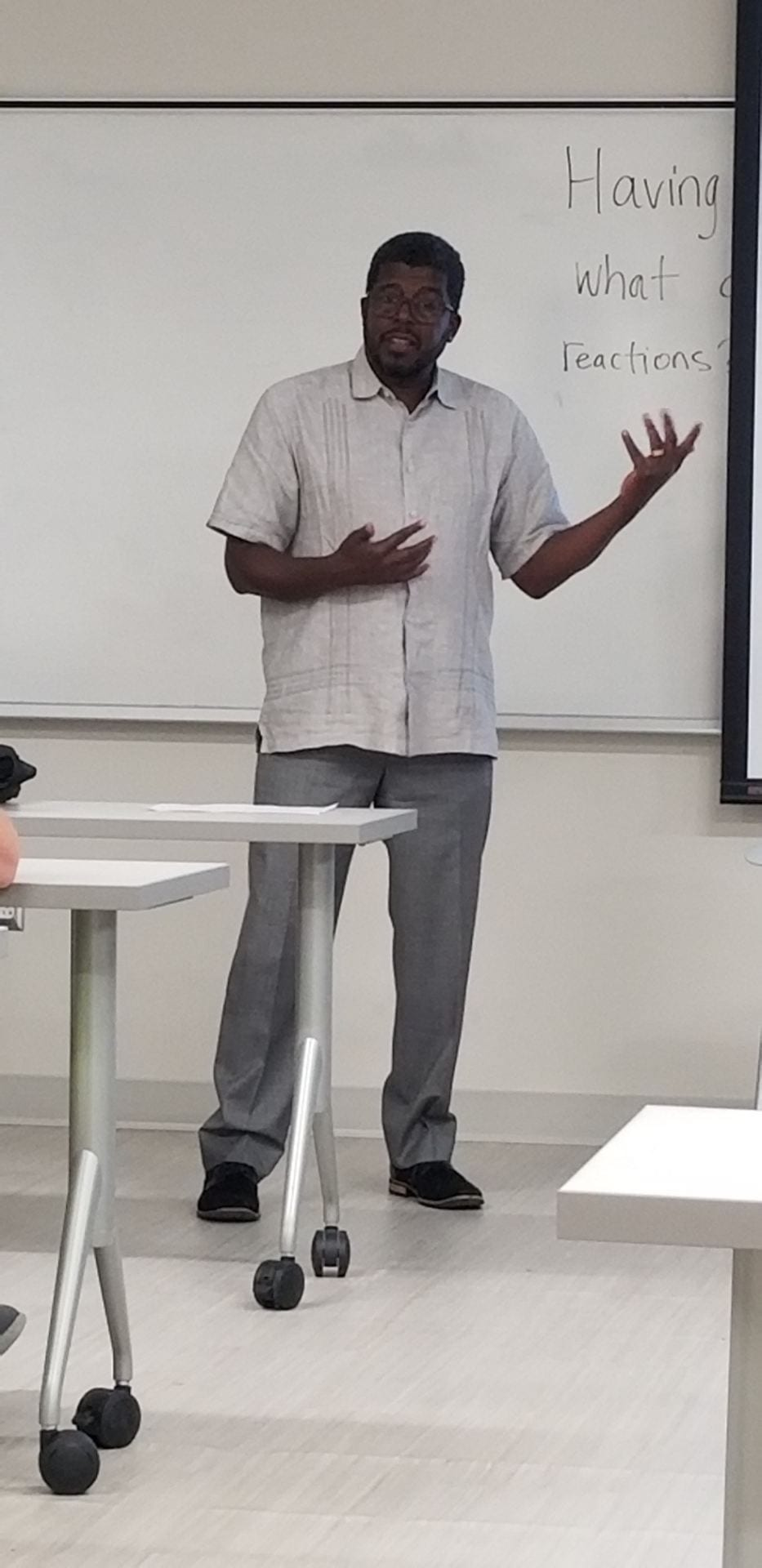 First day on the job as Visiting Distinguished Professor. 09/2018