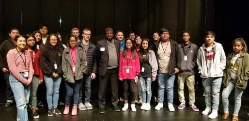 Holmes spoke to Springdale High School students who are interested in journalism, Oct. 2018