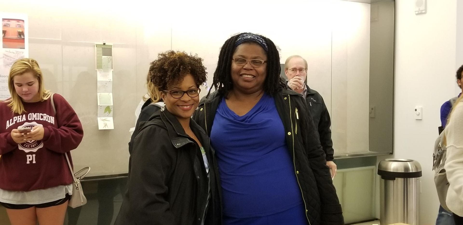 Executive Director for the IDEALS Institute, Elecia C. Smith and journalism Prof. Lucy Brown invited their classes to the Global Ethics event.