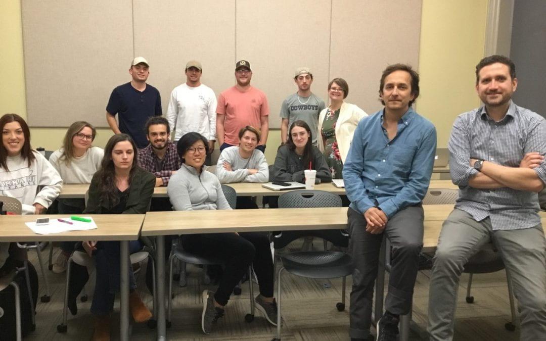 Comm. Prof. Russell-Sharman's class, Oct. 2019