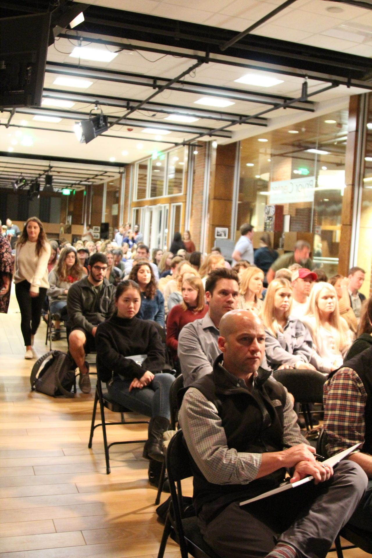 A crowd shot at Renaud's presentation, Nov. 2019