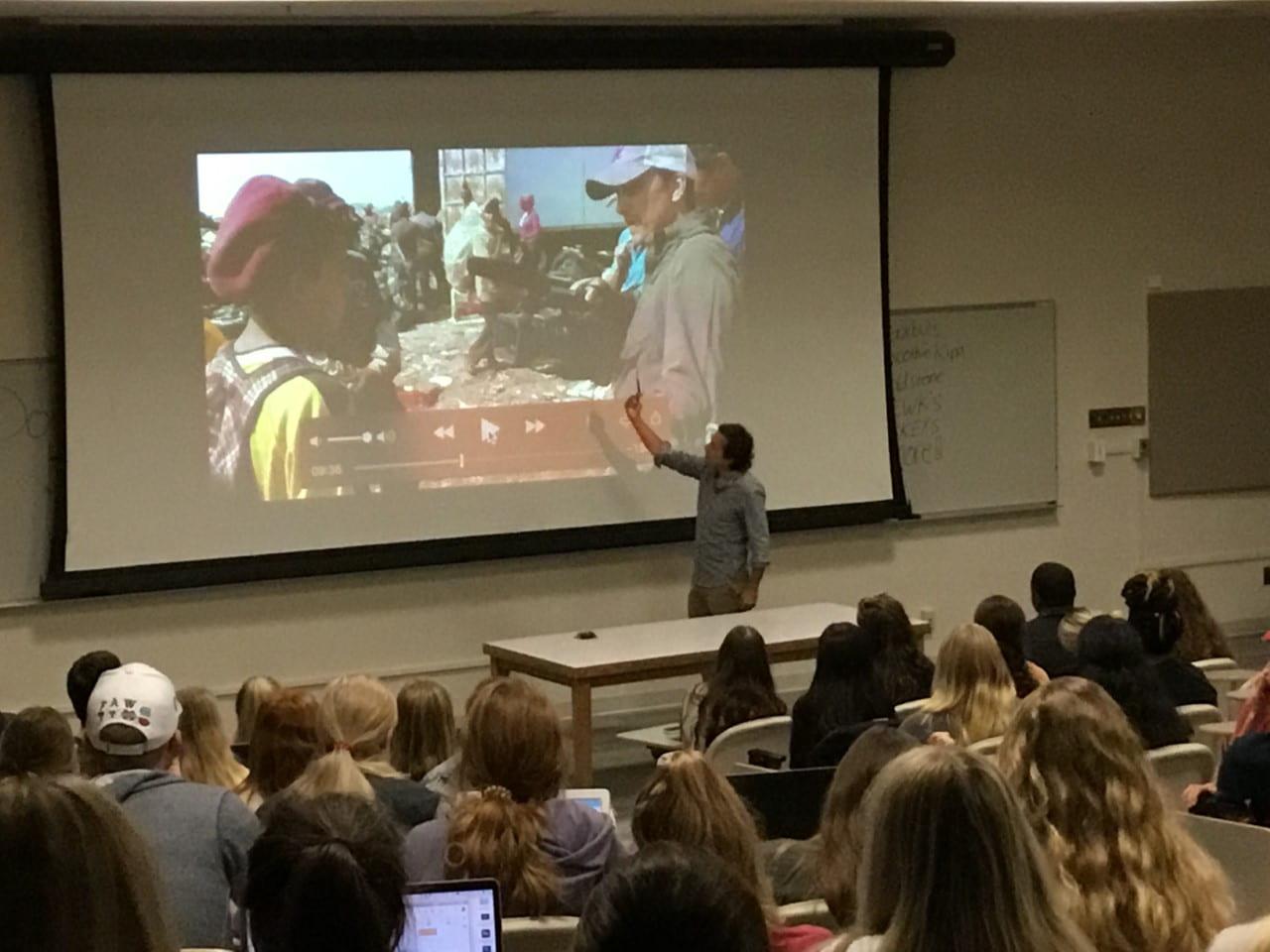 Media and Society class, Oct. 2019