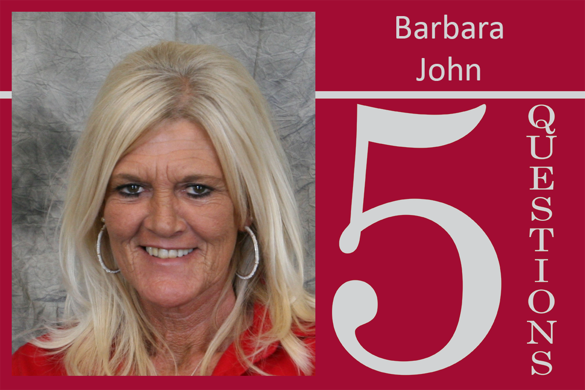 5 Questions: Barbara John, Coordinator for Building Services