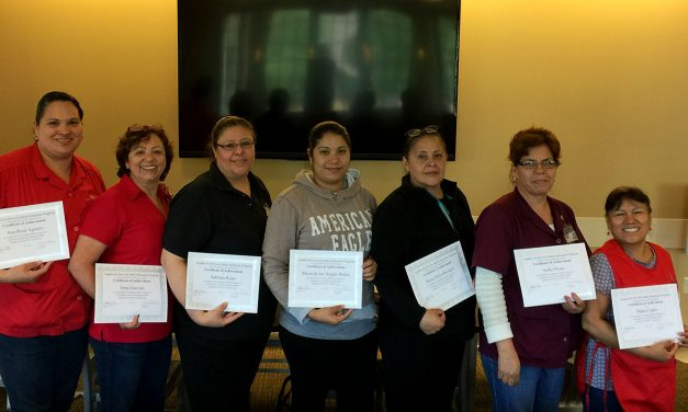 Four Staff Complete ESL Training