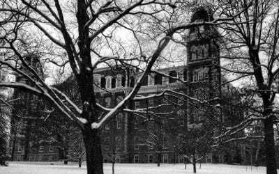Tom Hardcastle's Old Main Photo Chosen for University Holiday Card