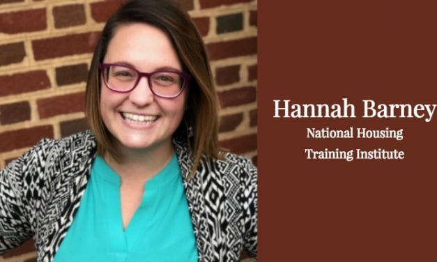 Hannah Barney: National Housing Training Institute Bound