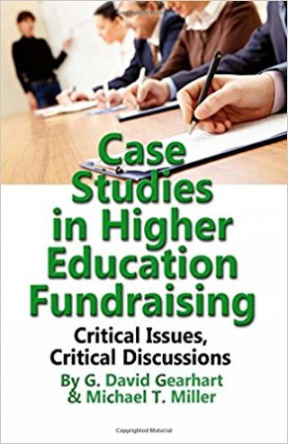 "Cover of Gearhart and Miller's ""Case Studies in Higher Education Fundraising"""