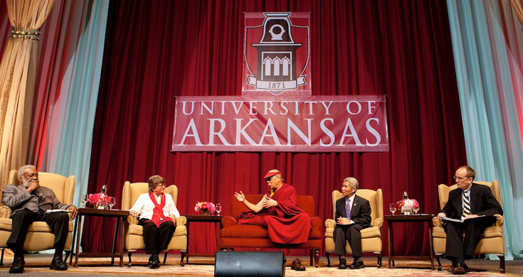Panel discussion at the University of Arkansas