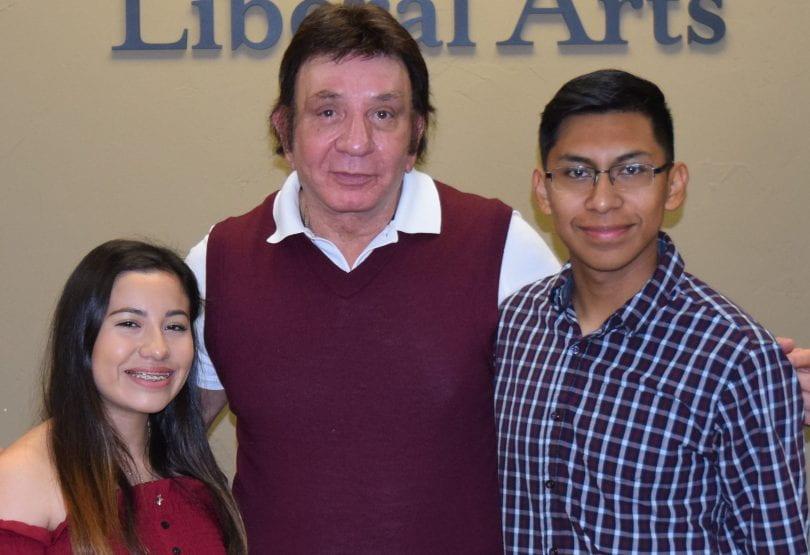 Castro Scholars with Richard Castro.