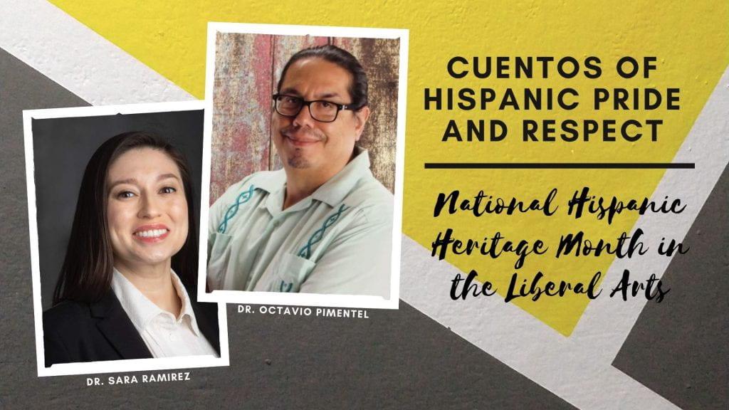Cuentos of Hispanic Pride and Respect. Photo of Drs. Pimentel and Ramirez